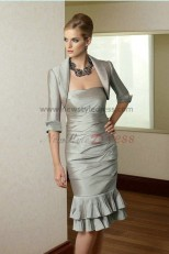 2018 Fashion Glamorous Strapless Mother's suit dress cms-017