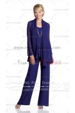 Cheap three piece Chiffon mother of the bride pants suits nmo-003