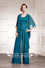 greenblack hunter green Tank Loose three mother of the bride pants suits nmo-011