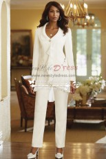 Ivory modern Ruffles mother of the bride pant suits/ Spring Women's outfit nmo-184