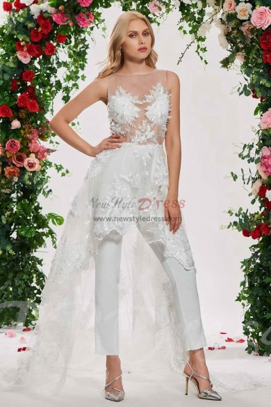 Wedding dresses bridal Jumpsuits With Train wps-120