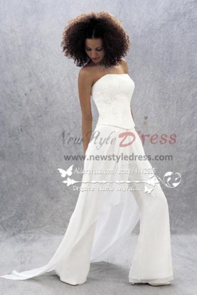 Glamorous  jumpsuit Bride Pants Suit for wedding wps-051