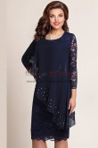 2019 Fashion Elegant Plus Size Dark Navy Lace Mother Of The Bride Dresses nmo-349