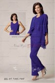 Asymmetry chiffon 3PC mother of the bride pants suit nmo-009