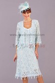 Light Sky Blue Gorgeous Fashion Mother's suit dress cms-034