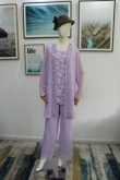 Beaded Lavender Mother of the bride pant suits Custom Plus size outfit Real pic nmo-620