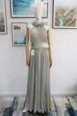 Gray chiffon accordion pleats Bridesmaids Dresses nmo-608