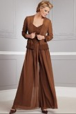 Brown Elegant two pieces mother of the bride pants sets nmo-083