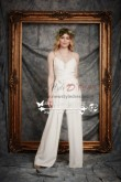 New Arrival Wedding chiffon jumpsuits with detachable skirt wps-072