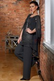 New style Mother of the bride pant suits Fashion Black trousers suit nmo-424