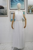 Real pic Bridal jumpsuit with hand beaded belt nmo-625