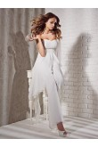 Sweetheart chiffon Empire wedding jumpsuit dresses wps-074