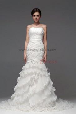 New Style Mermaid Ruffles Tiered Wedding Dresses nw-0114