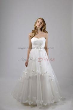 A-Line Modern Tiered Sweetheart Elegant Wedding Dress nw-0293