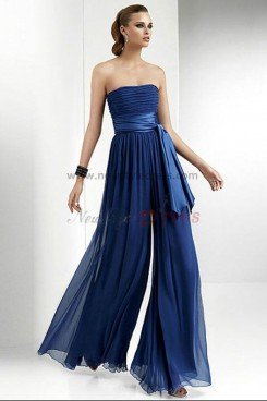 Fashion Royal Blue Chiffon Jumpsuits Wedding party nmo-042