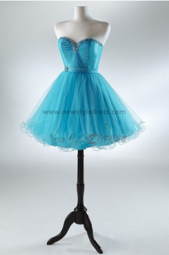 Fuchsia Navy blue Sexy Sweetheart Above Knee Mini Beading Glamorous Homecoming dresses nm-0016