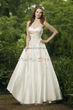 Hot Sale Cheap Floor-Length Spring lovely Waist wedding dress Waist With Beaded nw-0240