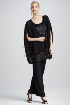 Hot Sale Chiffon Three Piece mother of the bride dresses pants suit With Sequins nmo-016