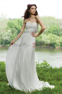 Informal Simple Empire Beach Best Sale wedding dress nw-0249