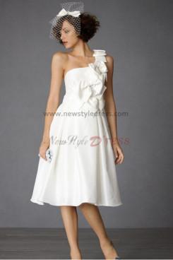 lovely wedding dress Knee-Length One Shoulder lovely nw-0276