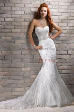 Mermaid lace Sheath Sweep Train Classic Elegant wedding dresses with Wraps nw-0192