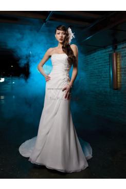 Sheath Embroidery Chiffon Cheap Glamorous Best Sale wedding dresses nw-0242