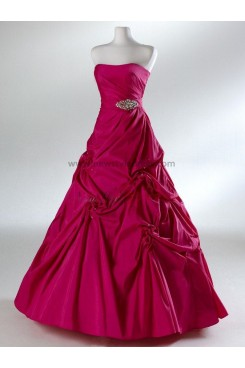 Strapless Ball Gown Glamorous Navy blue Floor-Length red Draped Hand-beading prom dresses np-0098