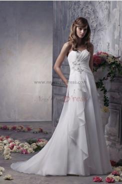 Sweetheart A-Line Elegant Elegant Wedding Dress nw-0300