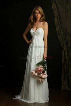Sweetheart Chiffon Glamorous Beach Wedding Dress nw-0299