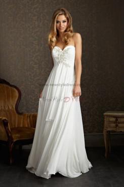Sweetheart Sashes With Glass Drill Chiffon Glamorous wedding dress nw-0274