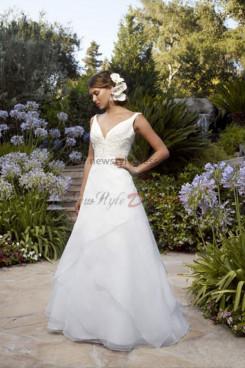 a-line Sweetheart Chest Appliques Cheap Informal wedding dress nw-0211