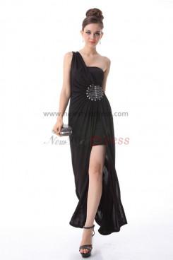 Hand beading One Shoulder slit Elegant Prom Dresses np-0197