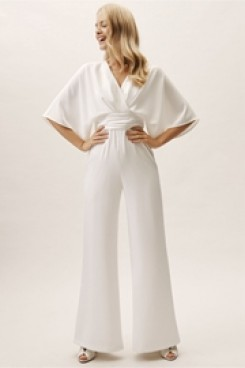 2019 Dressy Empire Bridal Jumpsuit for Beach Wedding wps-127