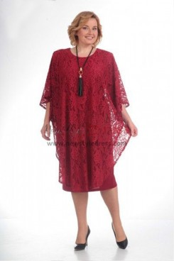 Good Comment Burgundy Lace Modern Mother Of The Bride Dresses nmo-371