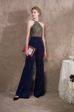Halter Prom dresses Jumpsuits With Colorful Glass Drill NP-0402