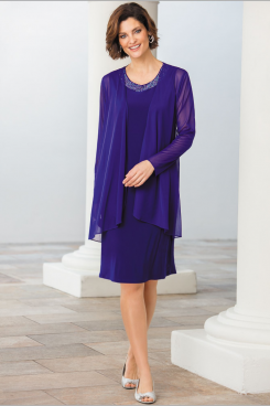 Knee-Length Mother of the bride dresses with jacket nmo-472