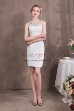 Knee-Length Sheath White Prom dresses NP-0418