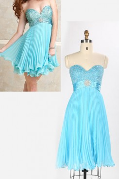 Hot Sale Chest With Crystal Sweetheart Waist Creases Short Skirt nm-0155