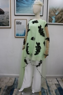 Mother of the bride pant suits dresses with shawl Sage nmo-611