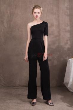 New arrival Women Black One Shoulder Prom dressy Jumpsuit NP-0419