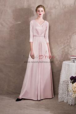 Pearl Pink Satin Bridal Jumpsuits three quarter sleeve NP-0404