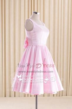 Pink Homecoming dress Knee-Length bridesmaid dress
