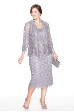 Plus Size Elegant Latest Fashion lace Mother Of The Bride Dress