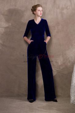Royal Blue Velvet Womens Jumpsuit Special occasion Wear NP-0407