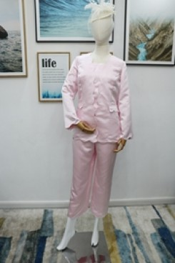 Satin 3PC Trouser suit Mother of the bride pantsuit Pink nmo-614