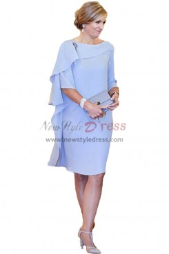 Sky Blue Chiffon Popular Mother Of The Bride Dresses nmo-351