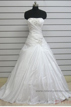 Sweep/Brush Train Strapless Chest Appliques ball gowns Cheap wedding dress nw-0117