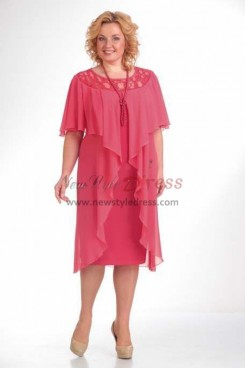 Watermelon Hand Beading Loose Mother Of The Bride Dresses nmo-364